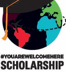 #YouAreWelcomeHere scholarship logo