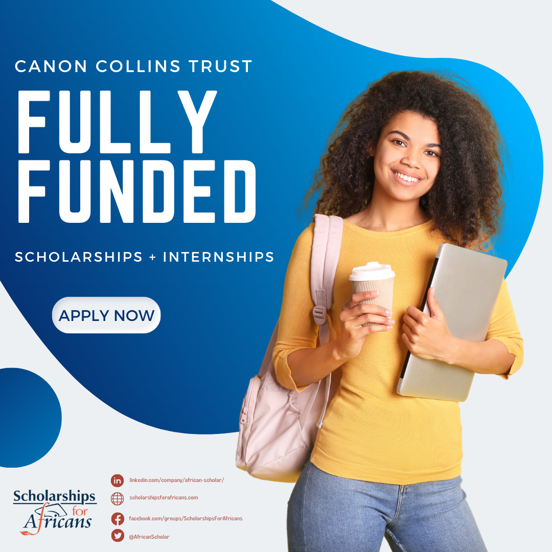 Canon Collins Trust: Fully-Funded Master of Commerce and Internship for Southern Africans