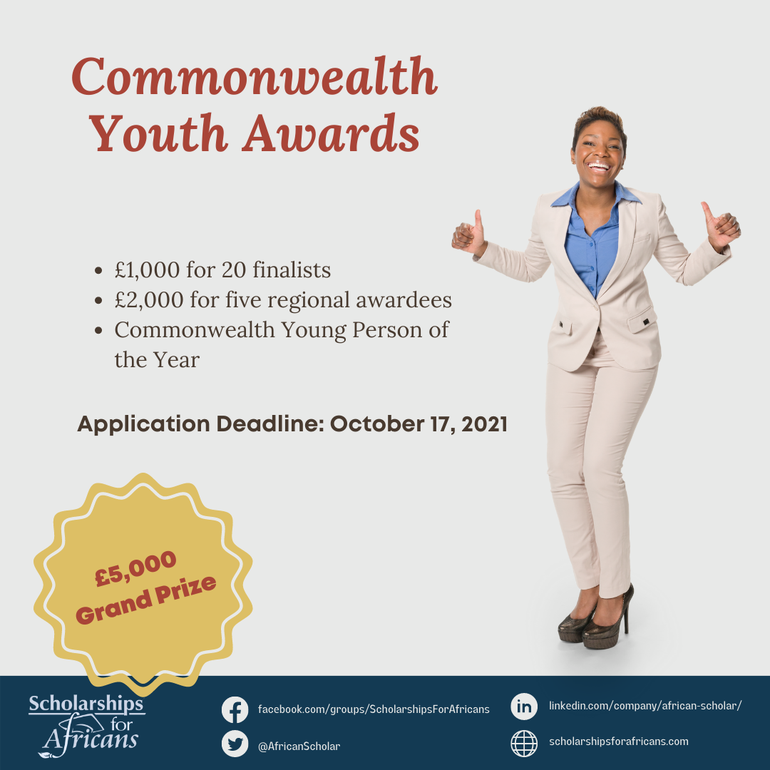 £5,000 Grand Prize for Commonwealth Youth Awards