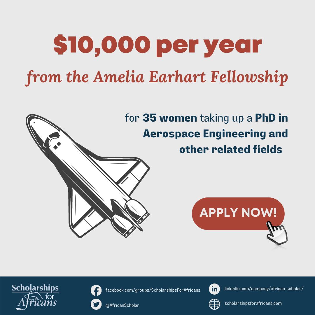 Amelia Earhart Fellowship for Women in PhD Aerospace Engineering