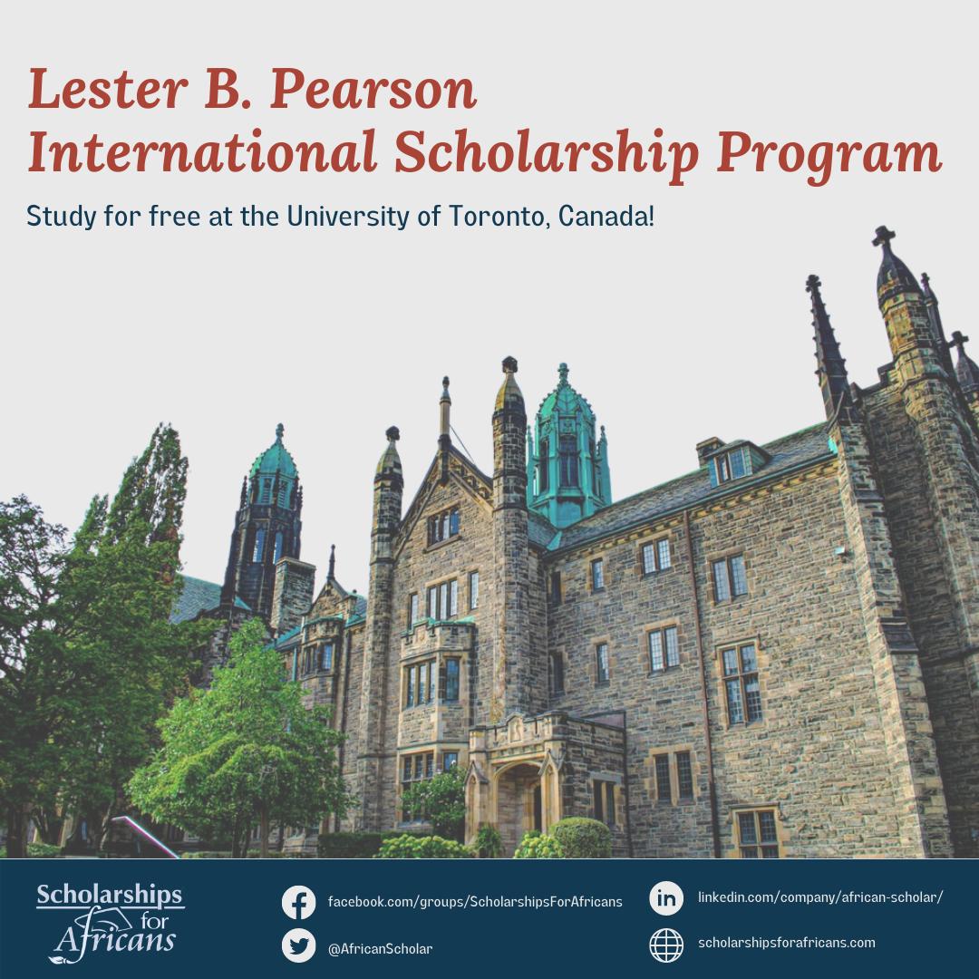 Lester B. Pearson International Scholarship Program at the University of Toronto