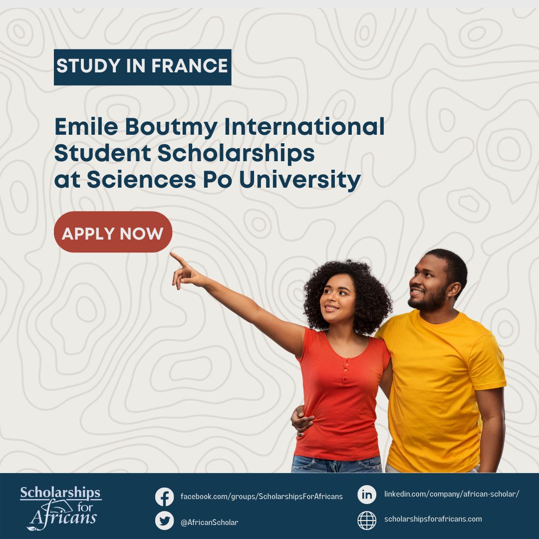 Emile Boutmy International Student Scholarships at Sciences Po University